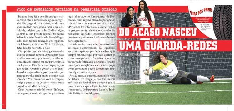 Defesa-central do Pico (Campeonato de Promoção 2ª Divisão) vira guarda-redes