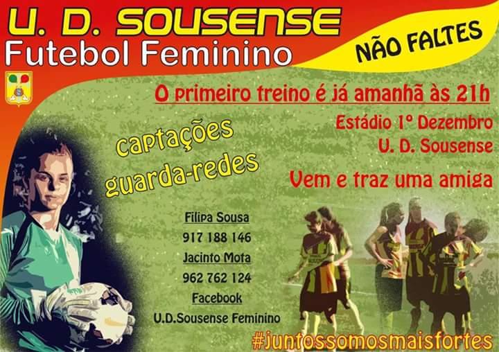 U.D. Sousense tem captações amanhã