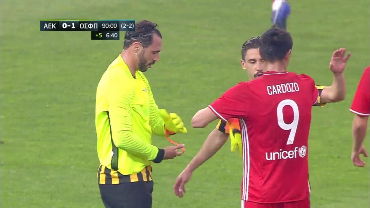 Avançado português,Hugo Almeida, termina jogo… na baliza!