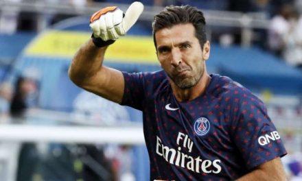 Quando do desequilibro… nasce uma defesa incrível! Gigi Buffon, agora em França (video)