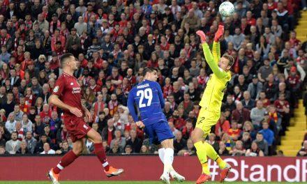 Como evitar um golo pelo posição, reajuste e equilíbrio no 1×1. Mignolet vs Chelsea (VIDEO)