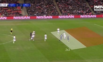 Análise: Nem todas as bolas são para ir. Reajustar, recuar, fixar, esperar, defender. Gazzaniga vs PSV