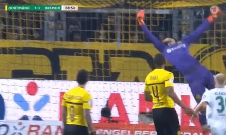 Candidata a defesa do ano… Eis Oelschlagel, do Dortmund, na Taça da Alemanha! (VIDEO)